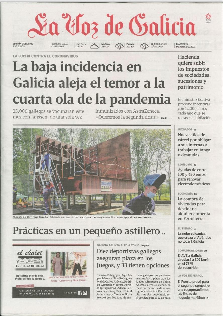 FREEBOARD in the local newspaper La Voz de Galicia